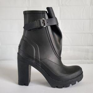 Hunter Galosh high heel ankle boots